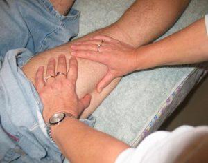 Bowen therapy move on leg